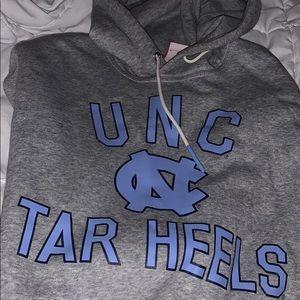 Gray Nike UNC hoodie